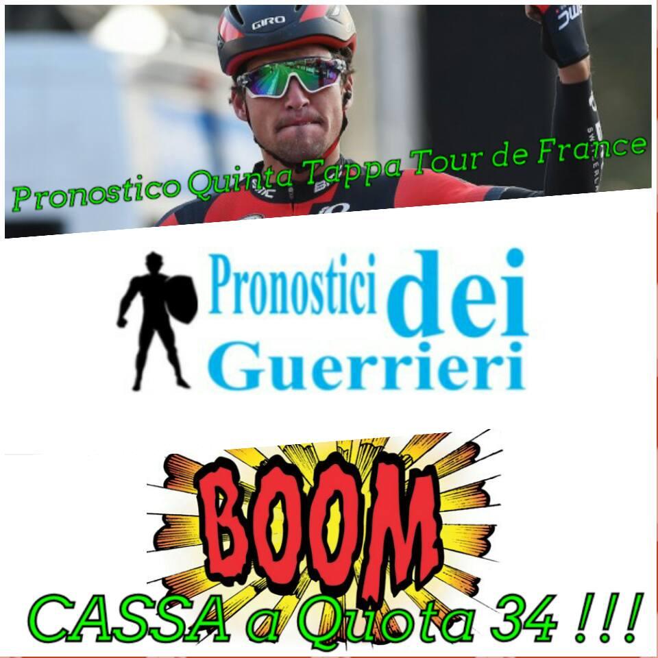 Cassa a quota 34 con il nostro pronostico sul vincente della 5a tappa Van Avermaet 6 Luglio 2016