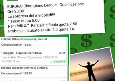 Pronostico in Singola Champions League del 3 Agosto 2016. Quota 4 e quota 8!! Luca Lepre su Mandrake!!