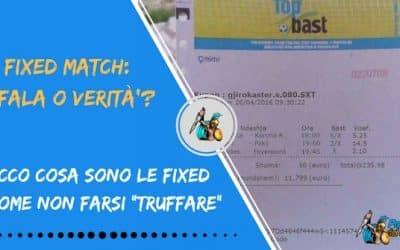 Fixed matches: bufala o verità?