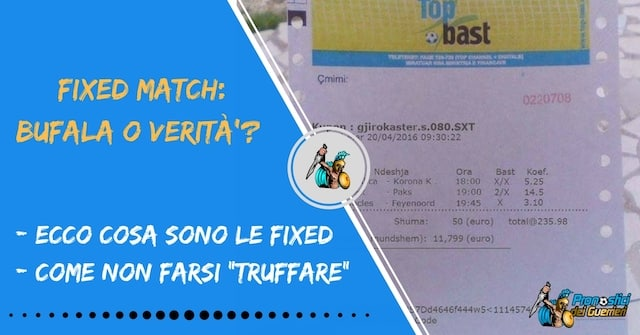 Fixed matches: bufala o verità?