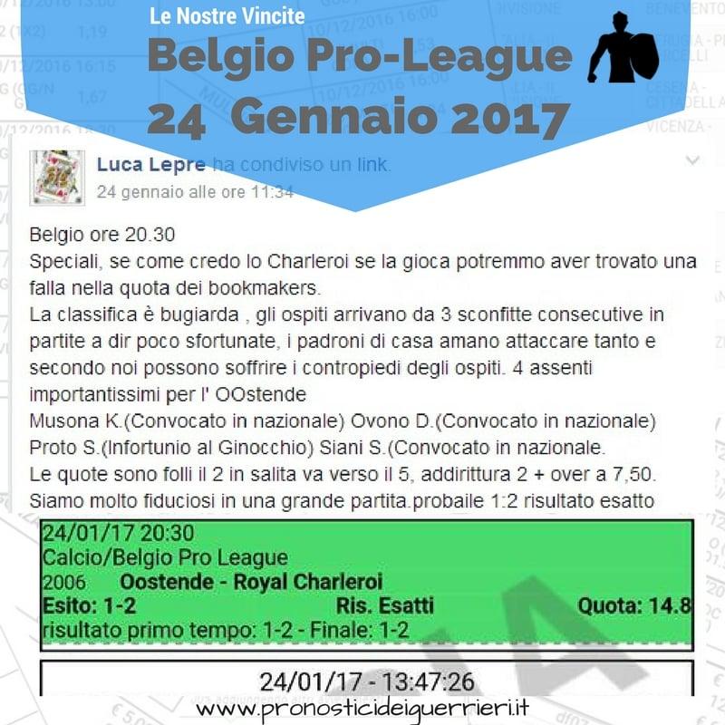 Singola calcio Vincente del 24 Gennaio 2017 -Gruppo Facebook-