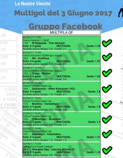 Multigol del 3 Giugno 2017-gruppo Facebook