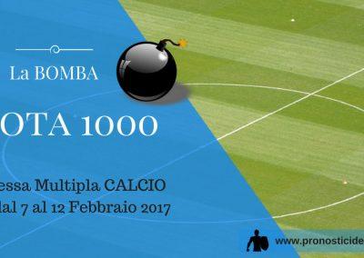 La BOMBA! Scommessa MULTIPLA CALCIO (eventi dal 7 al 12 Febbraio 2017)
