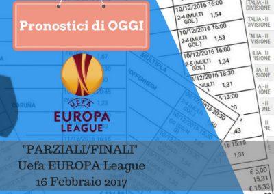 Europa League: Parziali/Finali di oggi 16-02-2017