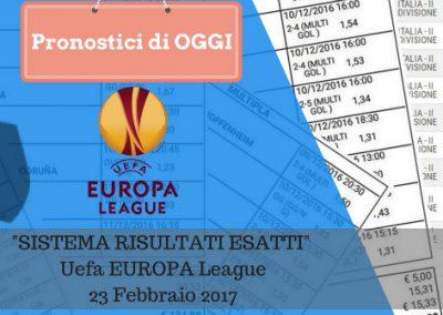 Sistema Risultati Esatti EUROPA LEAGUE di oggi 23-02-2017