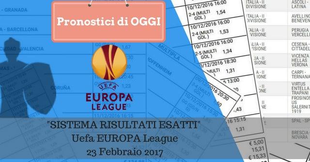 sistema risultati esatti europa league oggi 23-02-2017