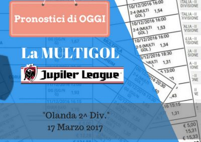"La Multigol ""EERSTE DIVISE"" di OGGI 17-03-2017"