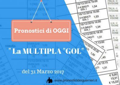I GOL di Oggi Venerdi 31 Marzo 2017. – La multipla dei Guerrieri