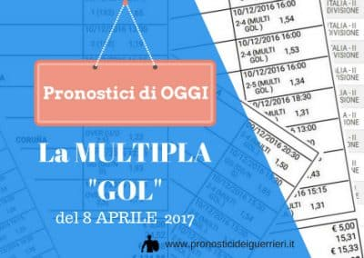 """La Multipla """"GOL"""" di OGGI  8 Aprile 2017"""