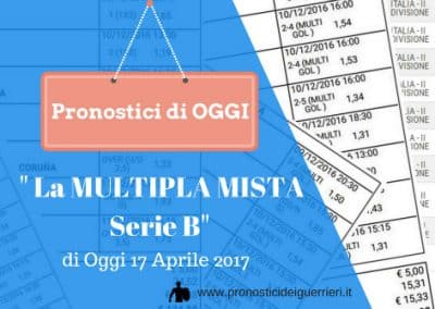 "La Multipla Mista Serie ""b"" di OGGI 17 aprile 2017"