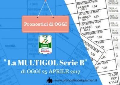 """Serie """"B"""" 38^ Giornata: La MULTIGOL del 25-04-2017"""