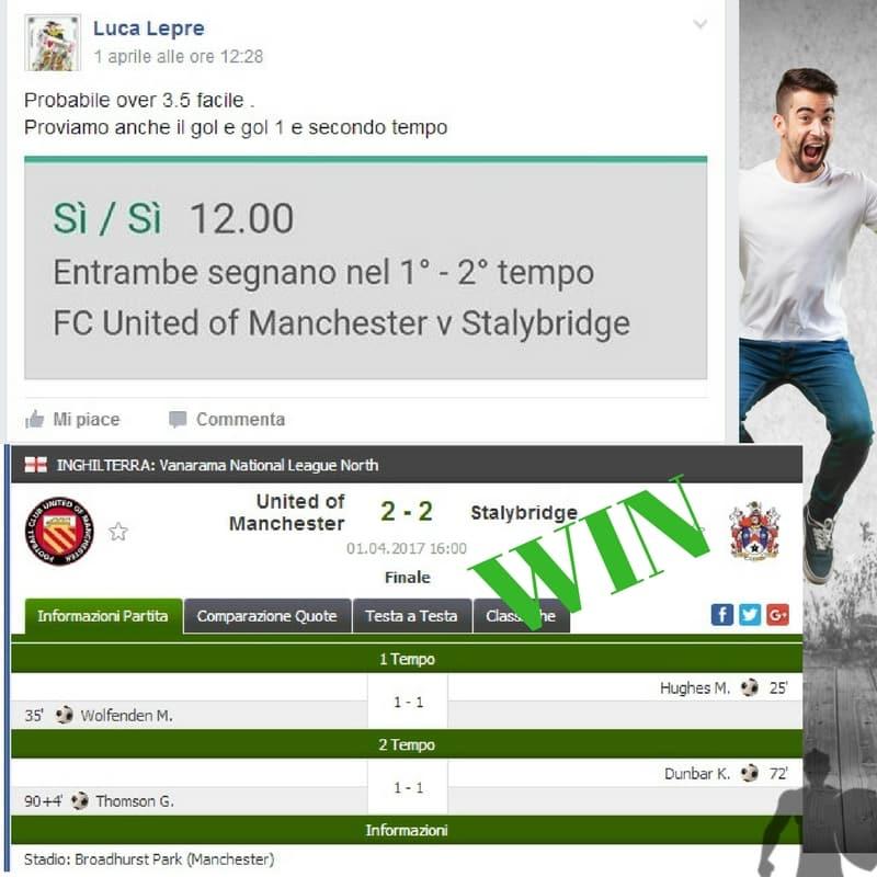 singola pre match del 1 aprile 2017 -Gruppo Facebook-