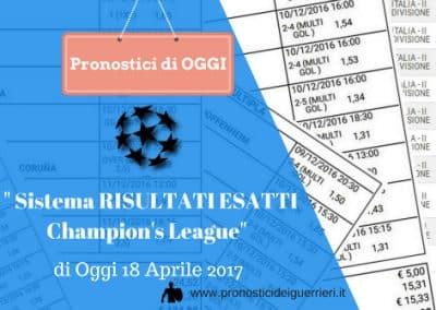 Champion's OGGI: Leicester – A. Madrid e Real -Bayer Monaco. Il Sistema Risultati Esatti