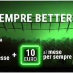Bonus Scommesse BETTER: 20 Euro Subito + 10 al Mese PER SEMPRE!