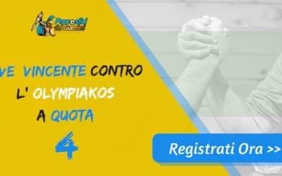 Bonus Champion's : JUVENTUS batte OLYMPIACOS a quota 4 (Puntata max 10€)