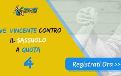 """Bonus Serie """"A"""": JUVENTUS batte SASSUOLO a quota 4 (Puntata max 10€)"""