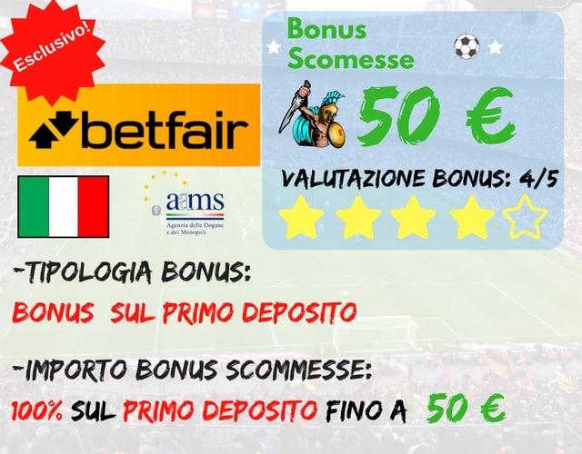betfair bonus scommesse