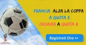 finale russia 2018 francia quota 5 croazia 8