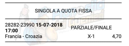 pronostici oggi mondiali russia 2018 finale francia croazia del 15 luglio