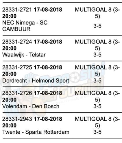 pronostici di oggi 17 agosto 2018 multigol olanda