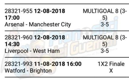 pronostici premiere league 1 giornata 11 e 12 agosto 2018