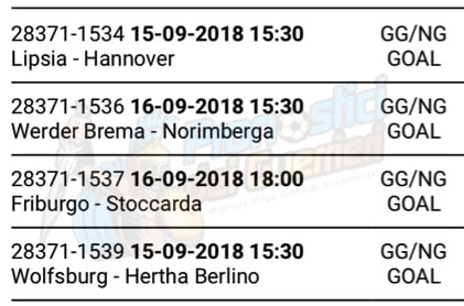 pronostici bundesliga 3 giornata 15 16 settembre 2018