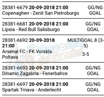 pronostici europa league 20 settembre 2018