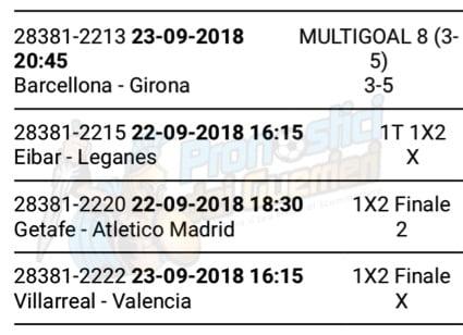 pronostici liga 5 giornata 22 23 settembre 2018