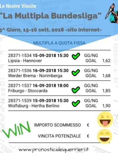 scommessa multipla goal vincente del 15-16 sett 2018 bundesliga -sito internet-
