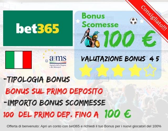 bonus scommesse bet365