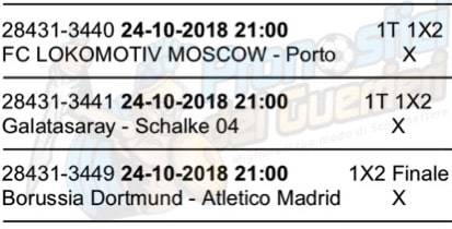 pronostici champions league 24 ottobre 2018