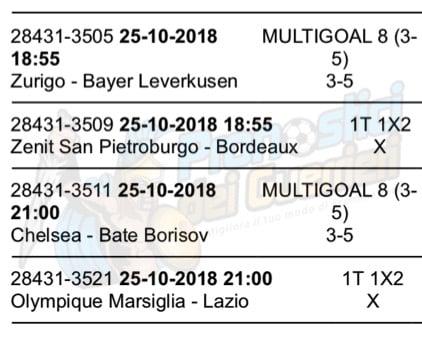 pronostici europa league 25 ottobre 2018