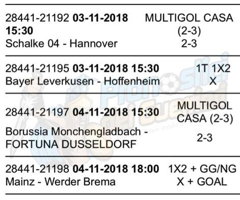 pronostici bundesliga 10 giornata 3 4 novembre 2018
