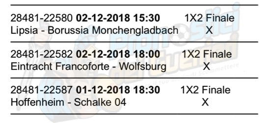pronostici bundesliga 13 giornata 1 2 dicembre 2018