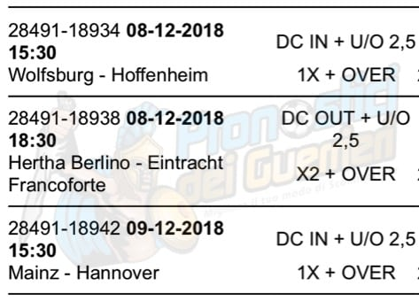 pronostici bundesliga 14 giornata 8 9 dicembre 2018