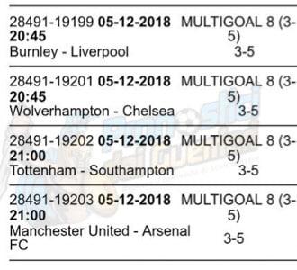 pronostici premier league 15 giornata 5 dicembre 2018