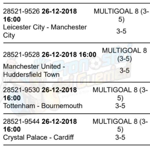 pronostici premier league 19 giornata 26 dicembre 2018