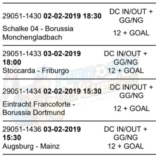 pronostici bundesliga 20 giornata 2 3 febbraio 2019