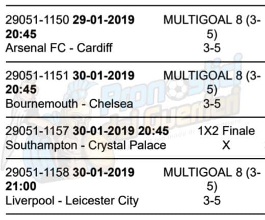 pronostici premier league 24 giornata 29 30 gennaio 2019