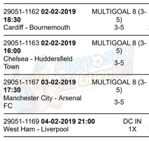 pronostici premier league 25 giornata 2 3 4 febbraio 2019