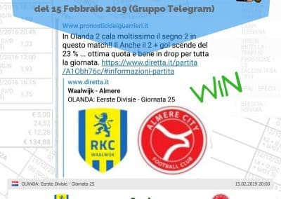 Dropping odd VINCENTE del 15 Febbraio 2019 -gruppo Telegram-