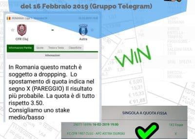 Dropping odd VINCENTE del 16 Febbraio 2019 -gruppo Telegram-