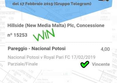 Dropping odd VINCENTE del 17 Febbraio 2019 -gruppo Telegram-