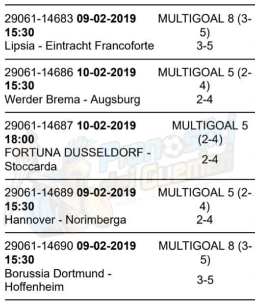 pronostici bundesliga 21 giornata 9 10 febbraio 2019