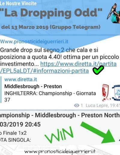 Dropping odd VINCENTE del 13 Marzo 2019 -gruppo Telegram-