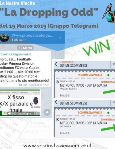 Dropping odd Vincente del 19 marzo 2019 -Gruppo Telegram-