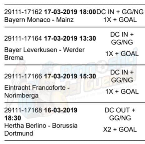 pronostici bundesliga 26 giornata 16 17 marzo 2019