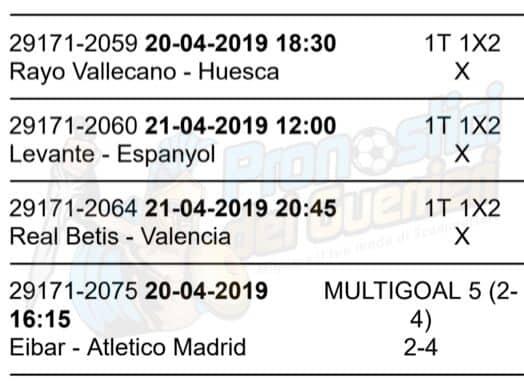 pronostici liga 33 giornata 20 21 aprile 2019
