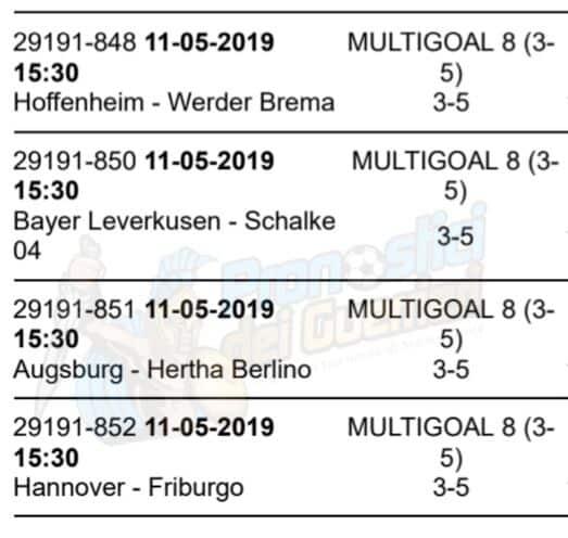 pronostici bundesliga 33 giornata 11 maggio 2019