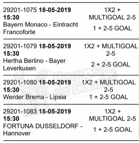 pronostici bundesliga 34 giornata 18 maggio 2019